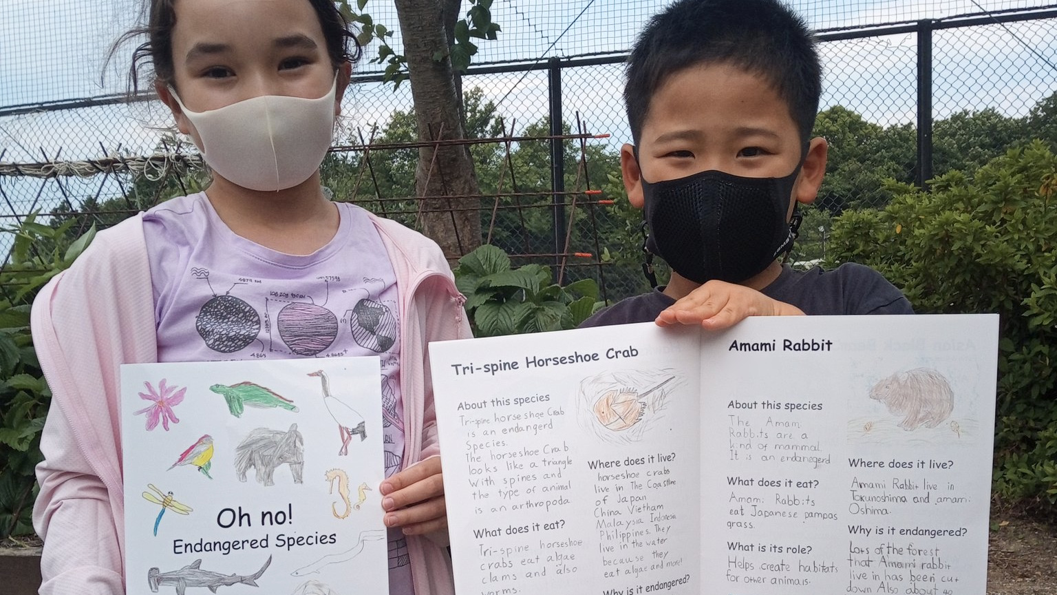 """A Book created by Gr. 1 students """"Oh No! Endangered species"""